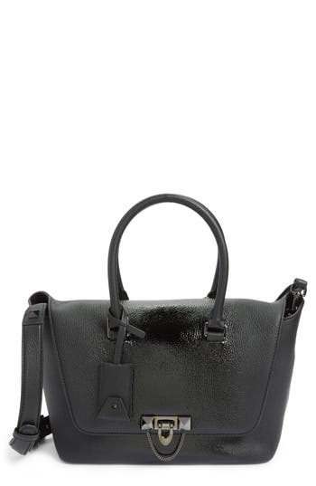 VALENTINO GARAVANI Demilune Top Handle Leather Satchel