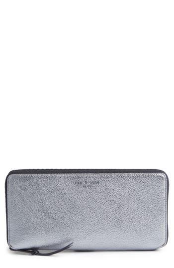 rag & bone Metallic Leather Zip-Around Wallet