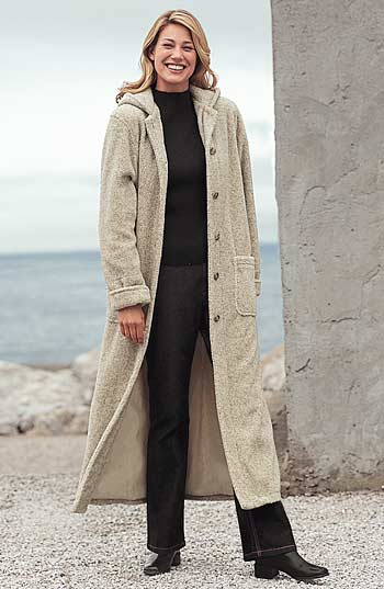 Alternate Image 2  - Hooded Berber Fleece Coat