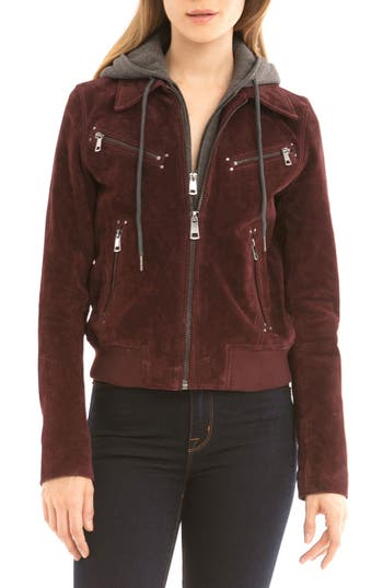 Bagatelle Suede Jacket with Detachable Hood