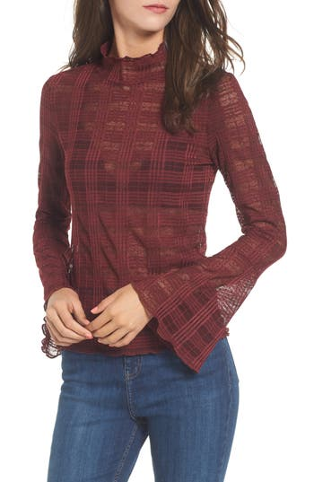 Leith Bell Sleeve Mesh Top