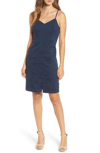 J.O.A. V-Neck Sheath Dress