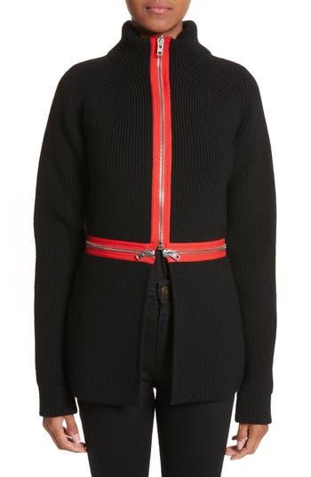 Givenchy Zip Cutaway Knit Cardigan