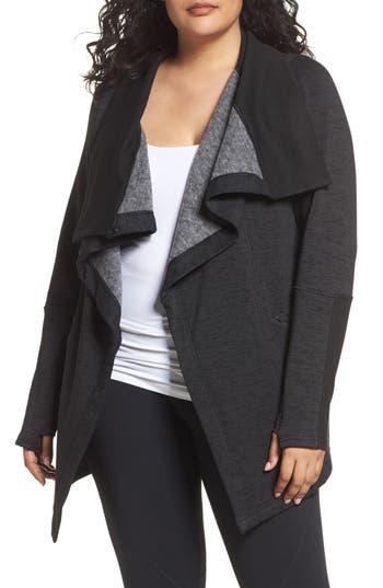 Zella Elevate Me Wrap Sweatshirt (Plus Size)