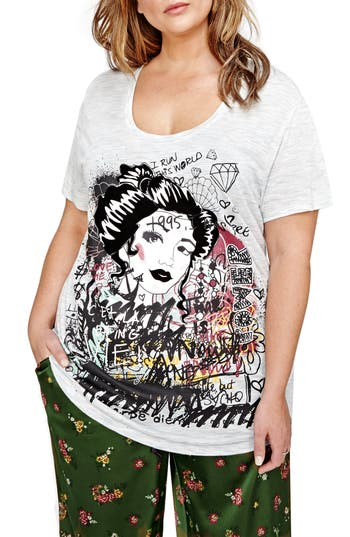 ADDITION ELLE LOVE AND LEGEND Jordyn Woods Graphic Boyfriend Tee (Plus Size)