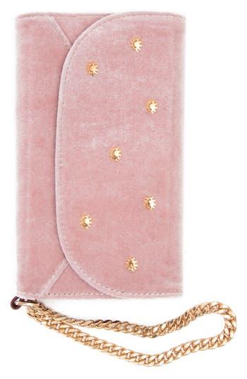 Sonix Embellished Velvet iPhone X Wristlet
