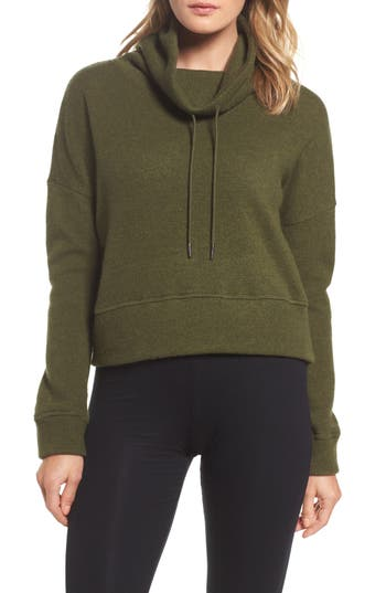 UGG® Funnel Neck Crop Merino Wool Sweatshirt
