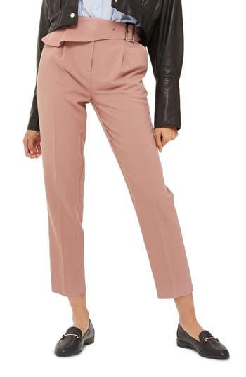 Topshop Ruffle Detail Peg Trousers