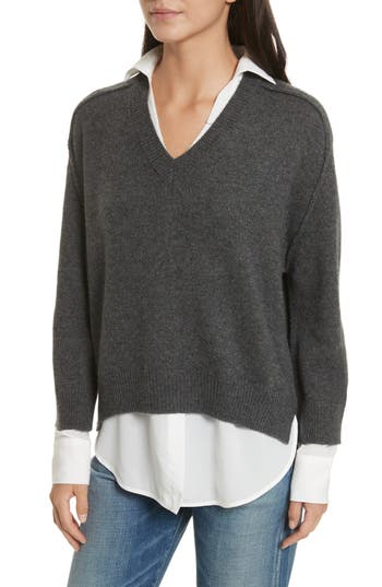 Brochu Walker V-Neck Layered Pullover