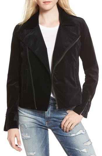 AG Quincy Velvet Biker Jacket