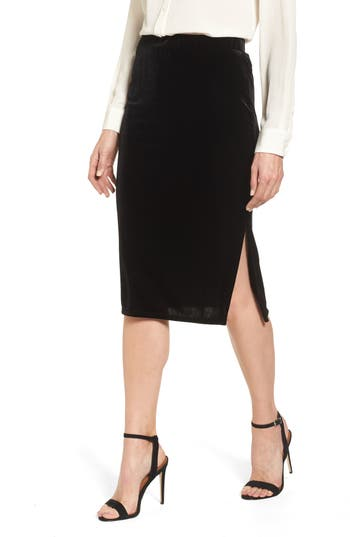 Halogen® Velvet Pencil Skirt