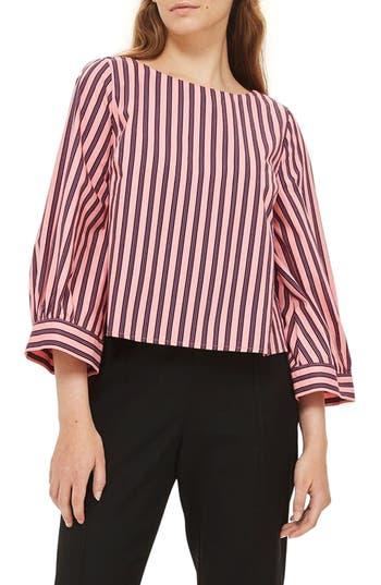 Topshop Stripe Wide Sleeve Top