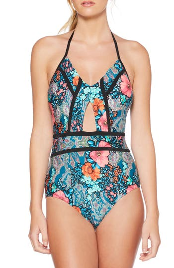 Laundry by Shelli Segal Floral Cutout One-Piece Swimsuit