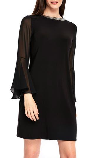 Wallis Embellished Collar Bell Sleeve Dress