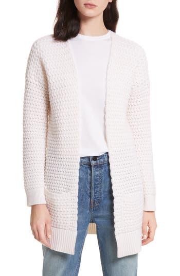 Allude Wavy Knit Merino Wool & Cashmere Cardigan