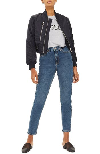 Topshop Dries Crop Bomber Jacket