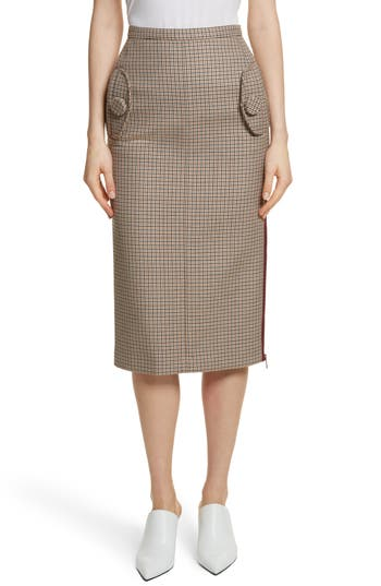 N°21 Houndstooth Pencil Skirt