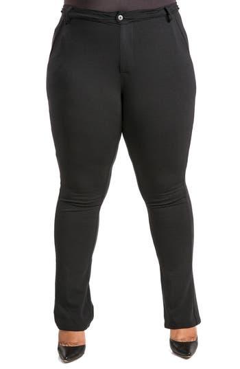 Poetic Justice Niara Bootcut Ponte Knit Pants (Plus Size)