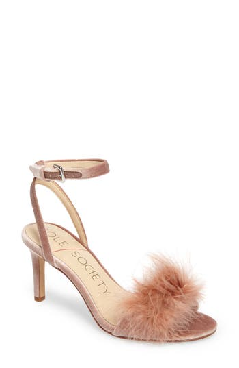 Sole Society Lindzay Feather Sandal (Women)