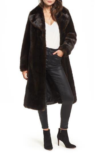 KENDALL + KYLIE Faux Mink Coat