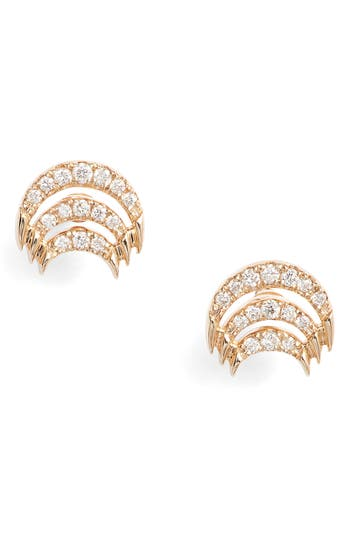 Isla Rio Diamond Stud Earrings by Dana Rebecca Designs