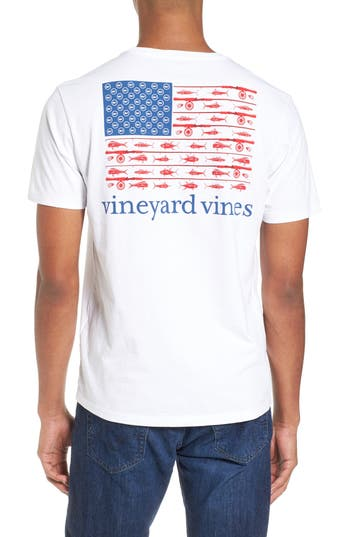Vineyard Vines Fishing Flag Graphic Pocket T Shirt Nordstrom