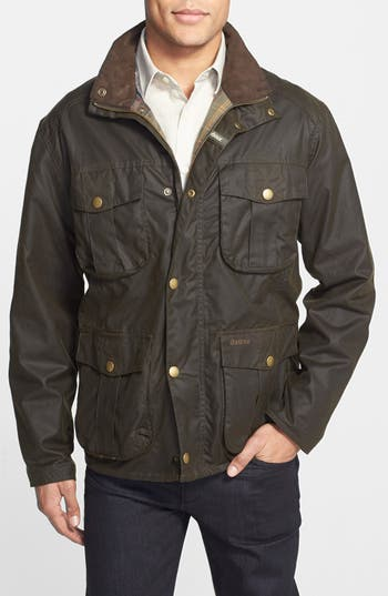 Barbour New Utility Regular Fit Waxed Cotton Field