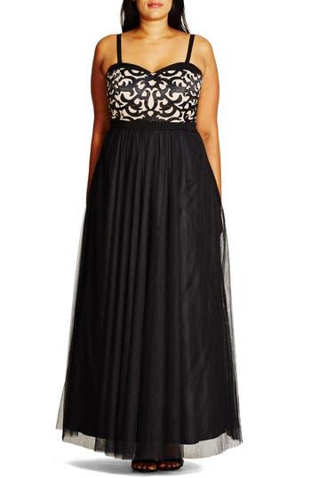 City Chic 'It Girl' Maxi Dress (Plus Size)