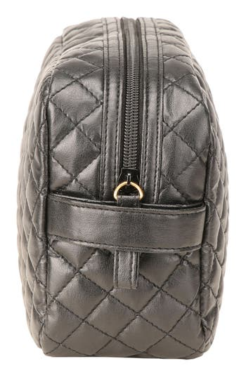 Alternate Image 3  - steph&co. 'Viveca' Quilted Black Cosmetics Case (Limited Edition) (Nordstrom Exclusive)