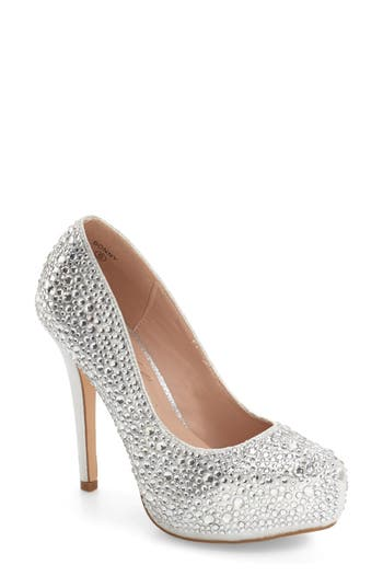 Lauren Lorraine Bonny Crystal Embellished Platform Pump (Women)