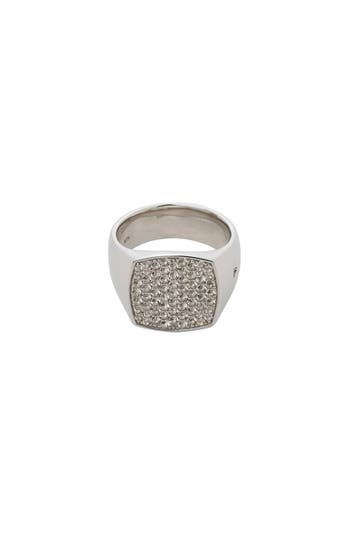 Mini Oval White Topaz Signet Ring by Tom Wood