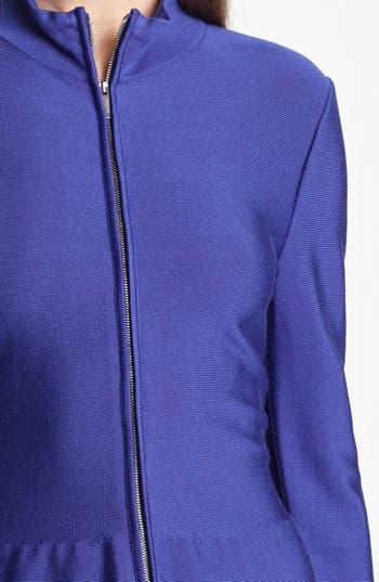 Zip Front Knit Jacket,                             Alternate thumbnail 3, color,                             Cobalt