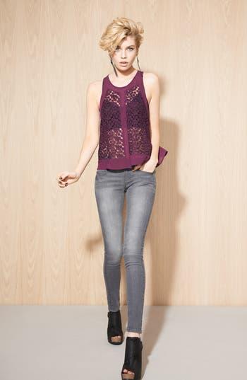 Alternate Image 5  - edyson 'Sloan' Skinny Jeans (Grey Wash)