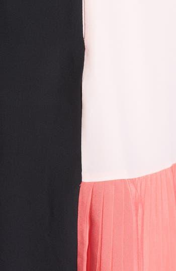 Alternate Image 3  - Ted Baker London Colorblock Pleated Crepe Shift Dress