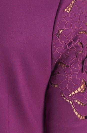 Alternate Image 3  - Laundry by Shelli Segal Laser Cut Ponte Knit Shift Dress