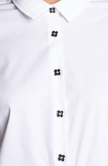 Alternate Image 4  - Pink Tartan Pleated Collar Shirt
