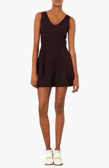 Alternate Image 1 Selected - Topshop Textured V-Neck Dress
