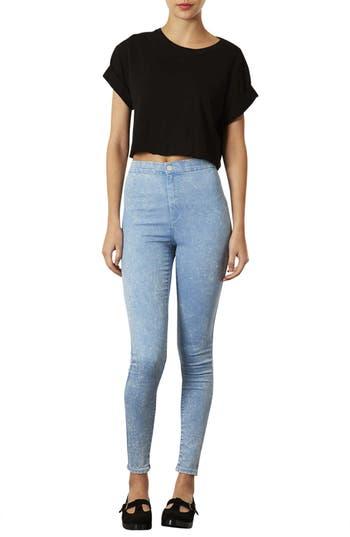 Alternate Image 3  - Topshop 'Joni' Acid Wash High Rise Skinny Jeans (Blue Acid) (Short)
