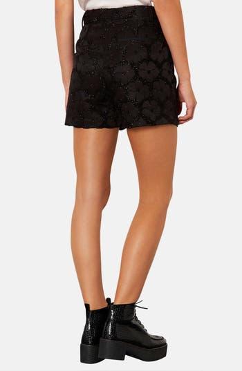 Alternate Image 2  - Topshop Textured Floral Shorts