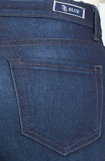 Alternate Image 3  - STS Blue Destroyed Skinny Jeans (Dark) (Juniors)