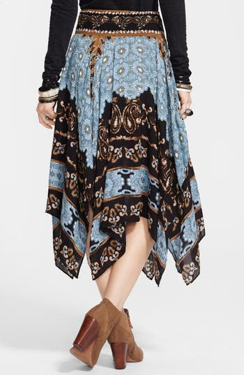 Alternate Image 2  - Free People 'Fly Away' Print Handkerchief Skirt