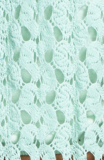 Alternate Image 3  - Cecico Crochet Handkerchief Crop Tank (Juniors)