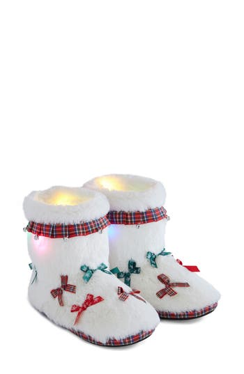 Ugly Christmas Slippers Light-Up House Booties
