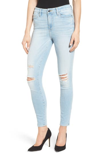 Good American Good Legs High Rise Ripped Skinny Jeans (Blue 020)