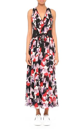 Print Silk Midi Dress, video thumbnail