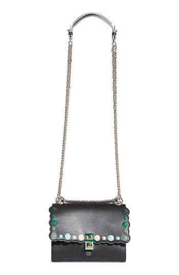 Fendi Mini Kan I Dégradé Stud Calfskin Shoulder Bag
