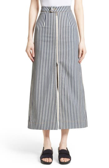 Eckhaus Latta Zip Front Stripe Skirt