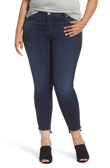 KUT from the Kloth Connie Step Hem Skinny Ankle Jeans (Packable) (Plus Size)