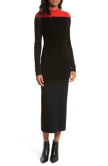 Diane von Furstenberg Contrast Yoke Midi Dress