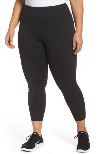Zella Moonlight High Waist Midi Leggings (Plus Size)